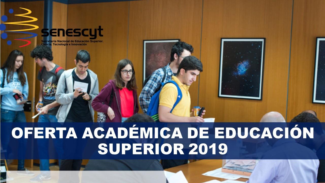 Oferta Académica de educación superior Ecuador