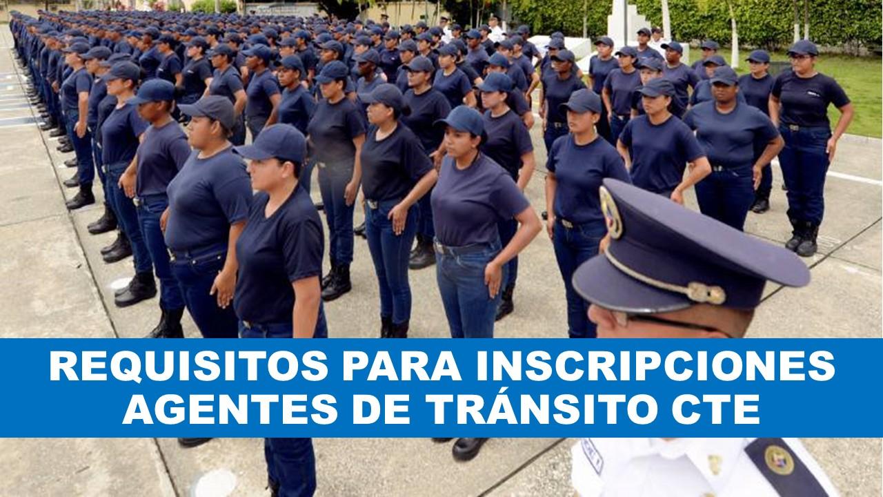 reclutamiento de Agentes de Tránsito CTE