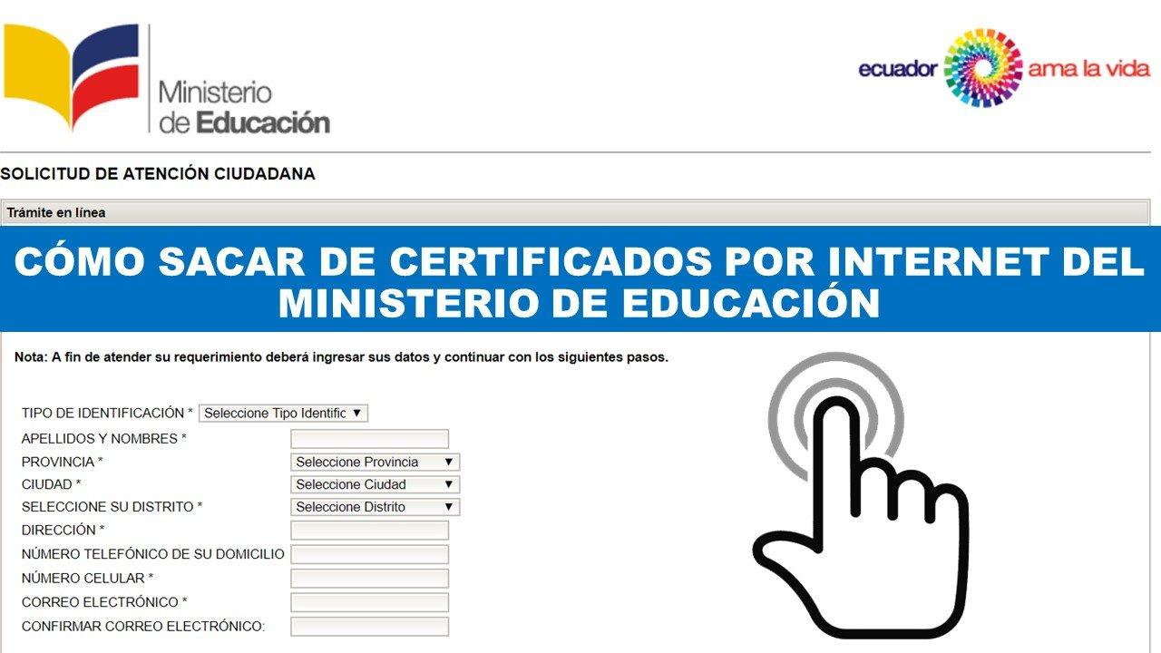 Sacar certificados del Ministerio de Educación por internet