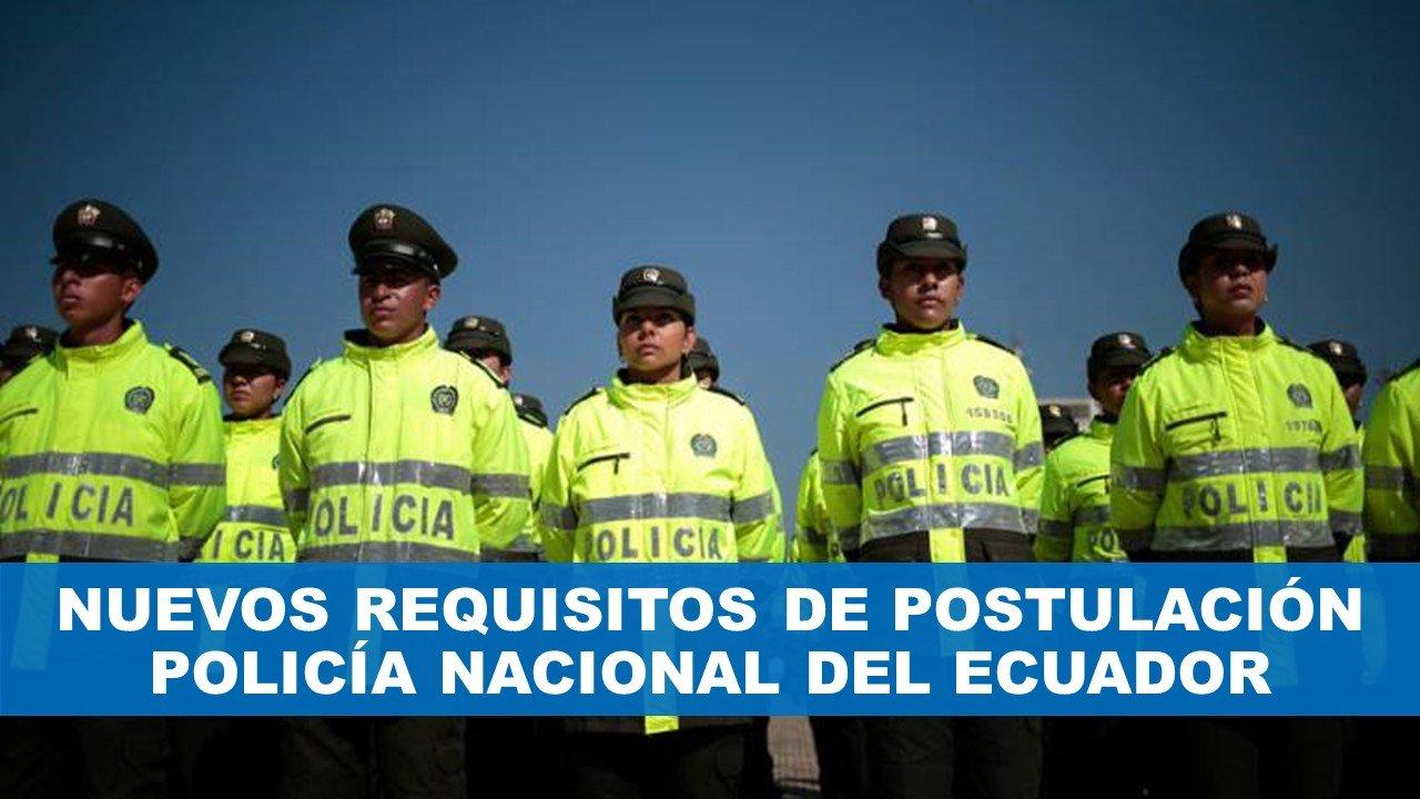 Reclutamiento en linea Policía Nacional del Ecuador Requisitos