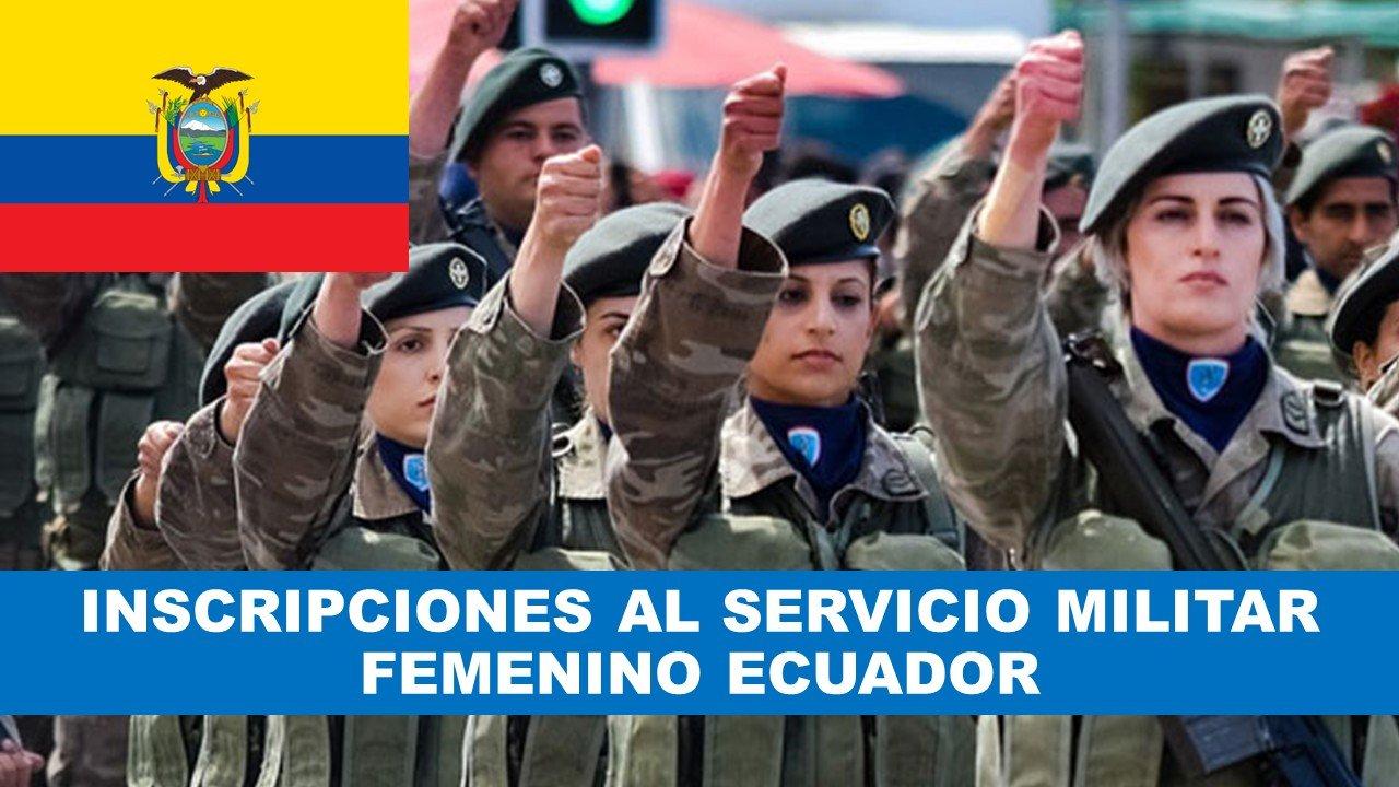 Inscripciones al servicio militar femenino Ecuador