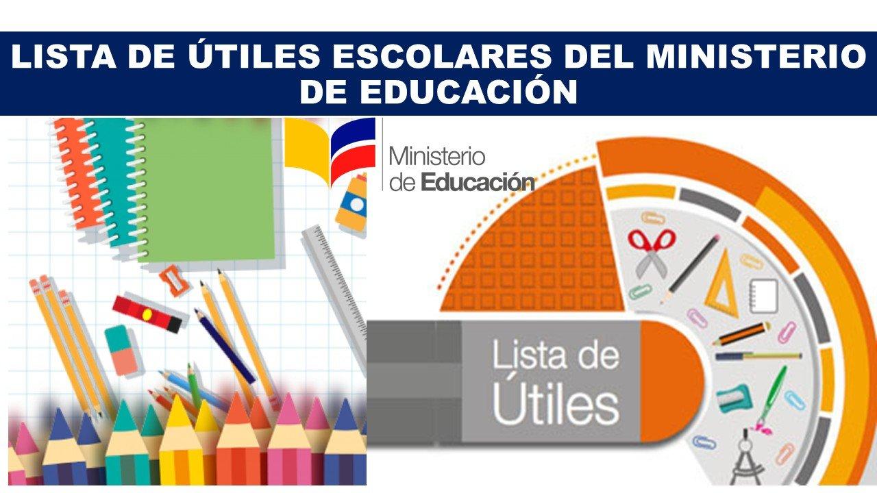 Lista de Útiles Escolares del Ministerio de Educación