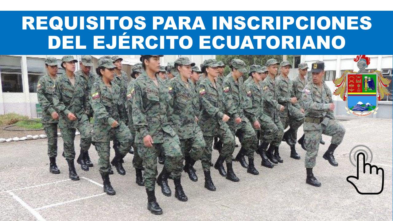 Inscripciones en linea ejército Ecuatoriano