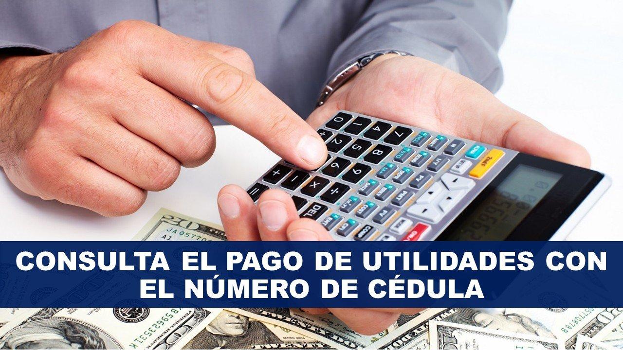 Consultar Pago de Utilidades con el Número de Cédula