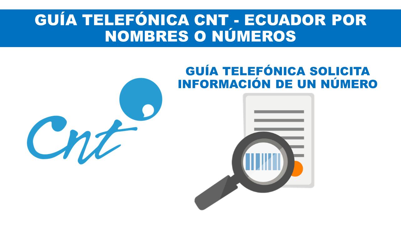 Consultar Guía telefónica CNT Actualizada Ecuador