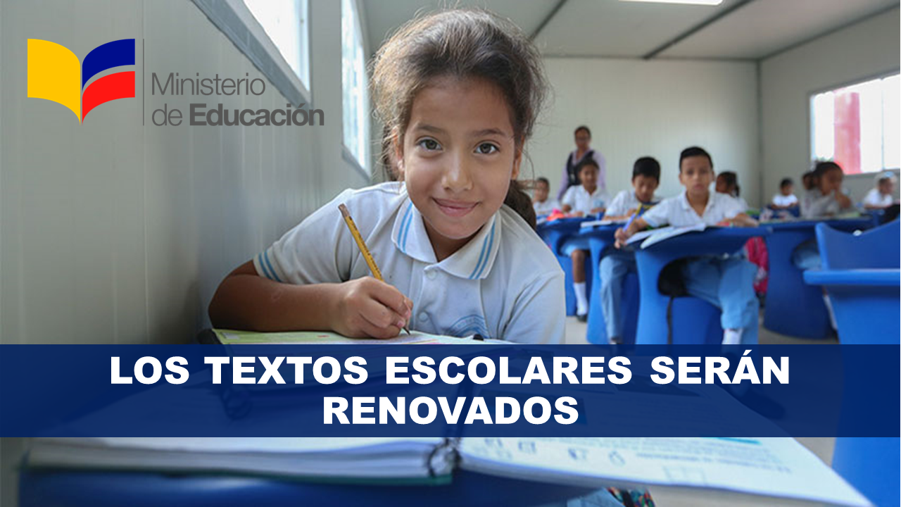 Los textos escolares serán renovados