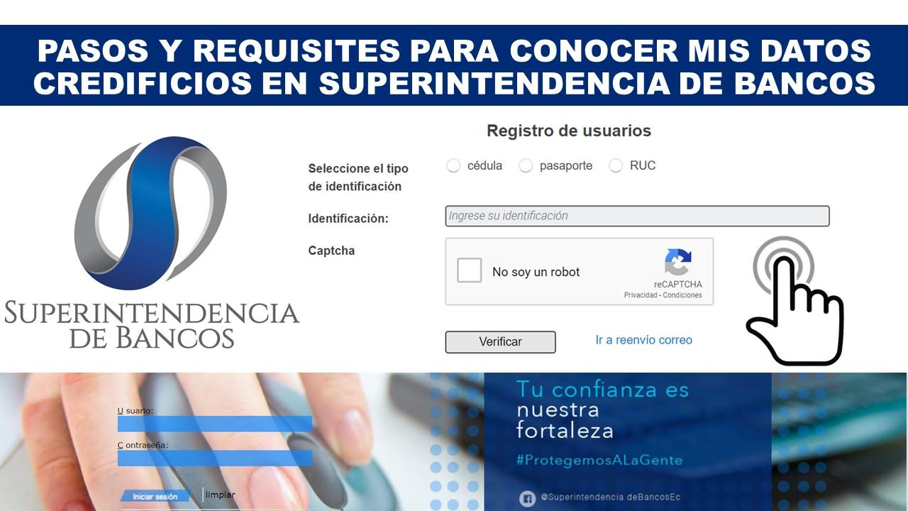 Pasos para consultar los datos crediticios en Ecuador