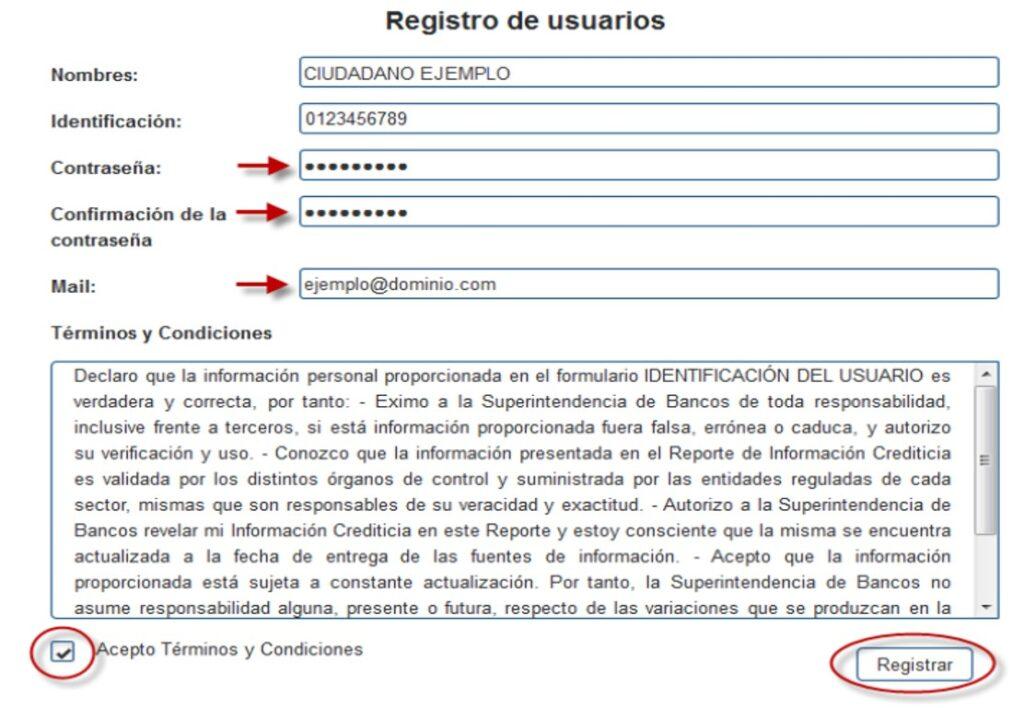 sistema registro de datos