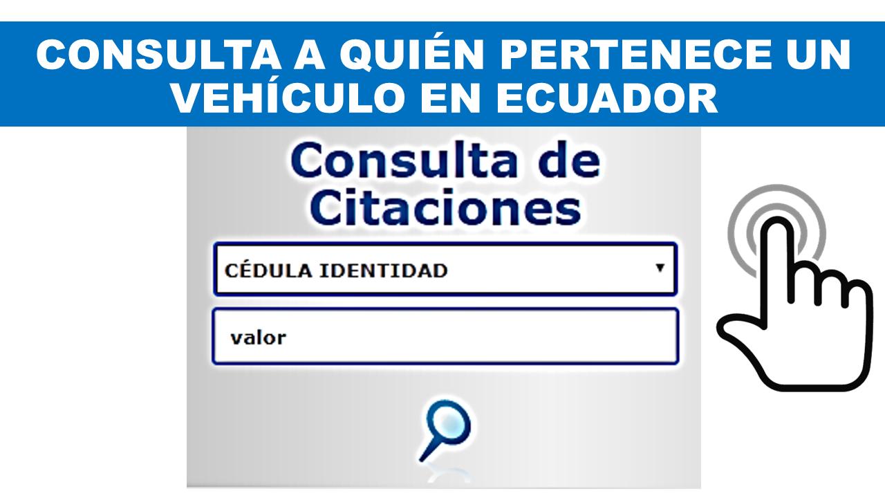 Consultar a quién Pertenece un Vehículo en Ecuador