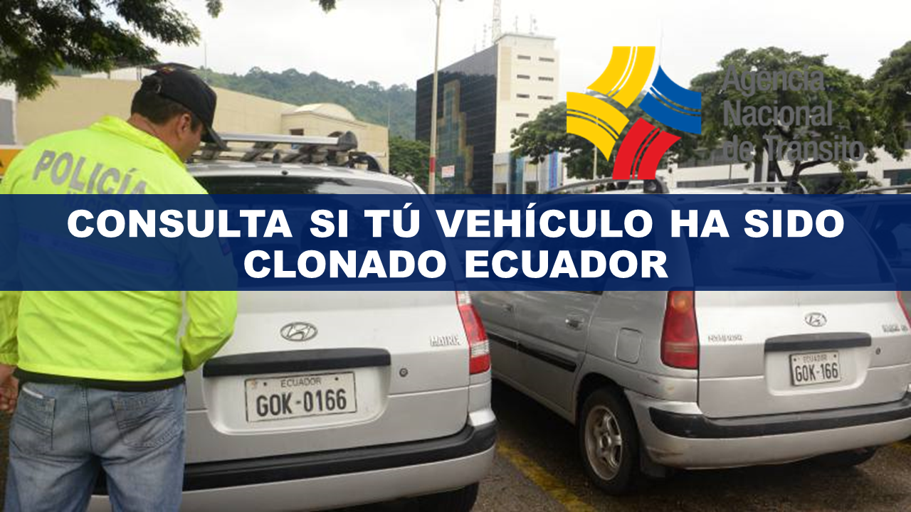 Consultar vehículo clonado Ecuador