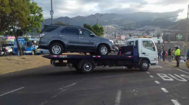 vehículo retenido por la AMT