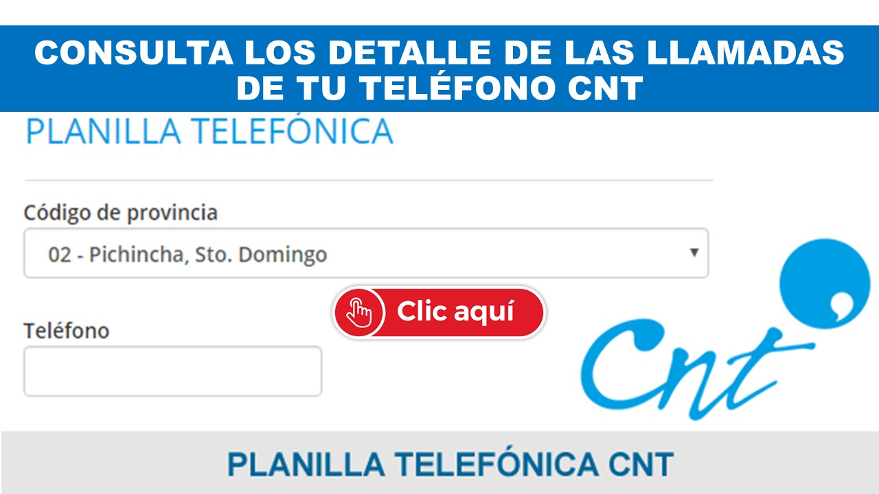 Telefonía fija convencional CNT Ecuador