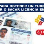 Turno para renovar o sacar licencia en la ANT Ecuador