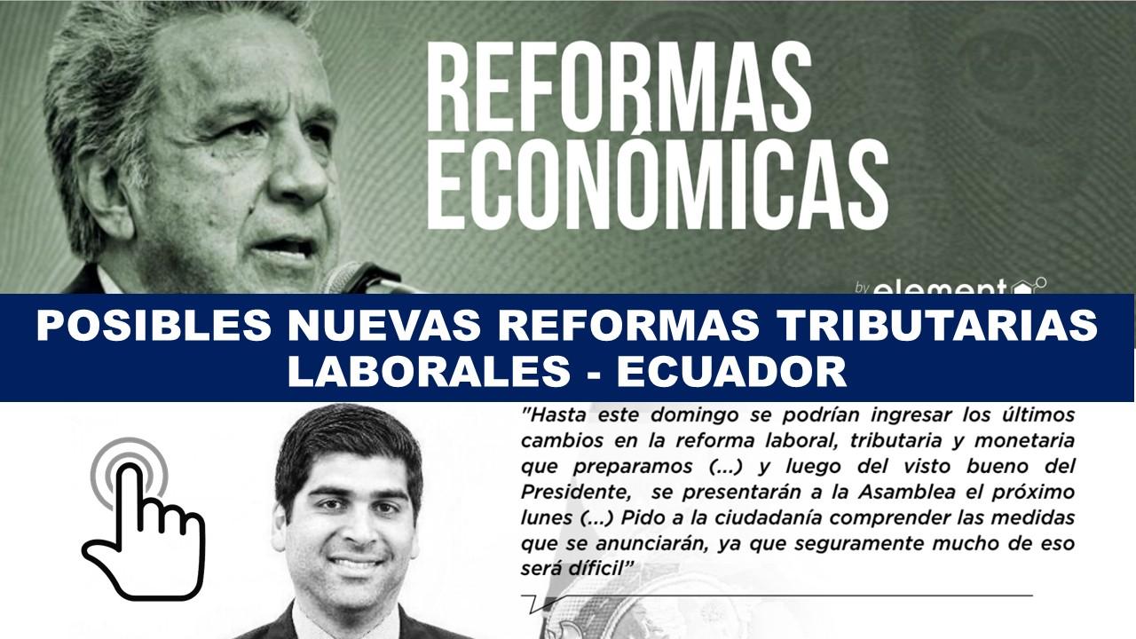 Nuevas reformas tributarias y laborales