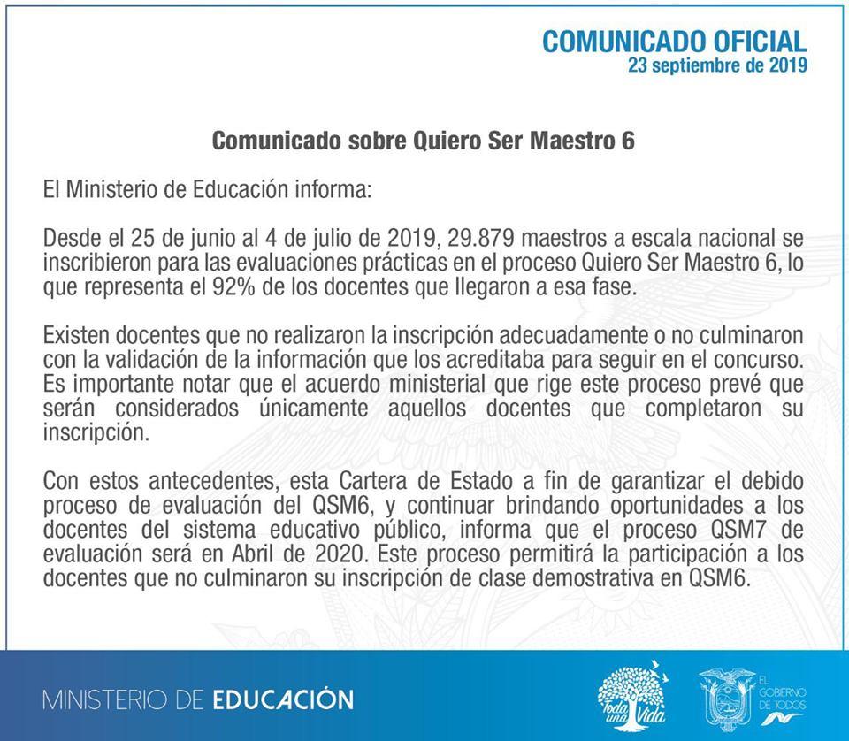 Inscripciones del Quiero Ser Maestro 7 comienza en abril del 2020 Inscripciones del Quiero Ser Maestro 7 comienza en abril del 2020
