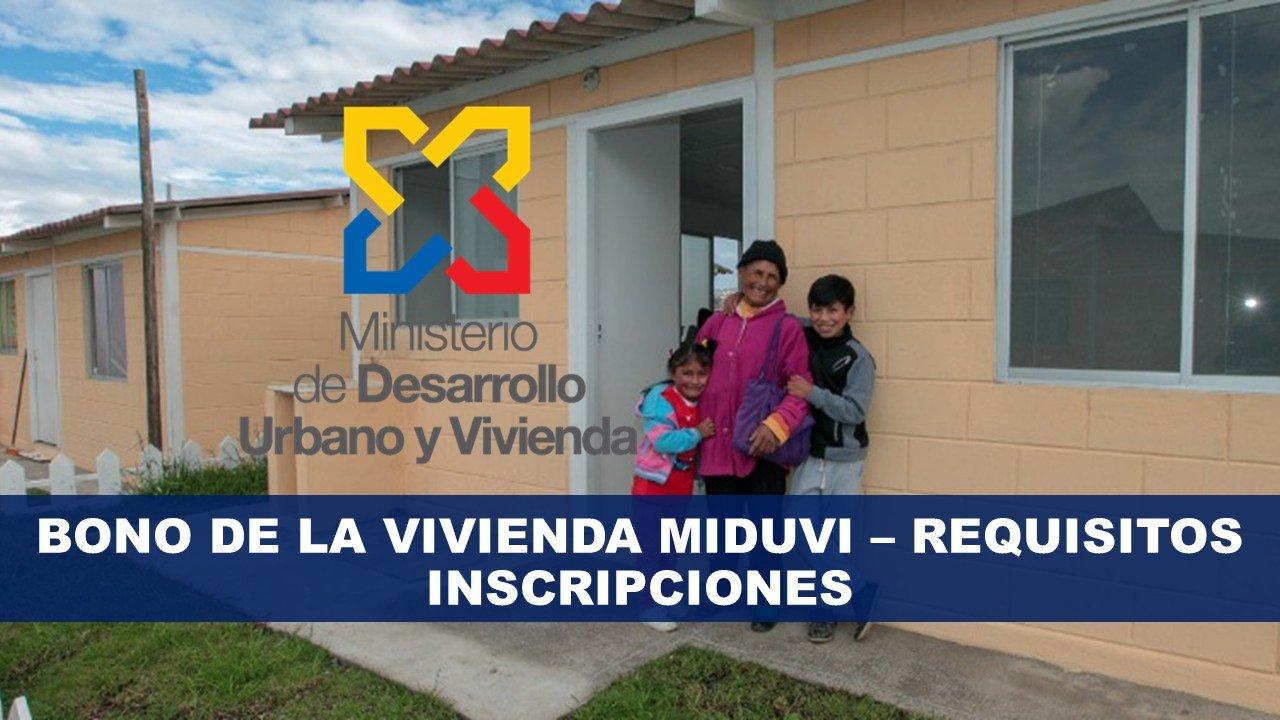 Bono de la vivienda MIDUVI - REQUISITOS
